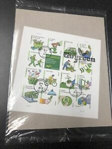 US 4524 Go Green Souvenir Sheet Of 16 Stamps First Day Of Issue 2011 Wrapped.