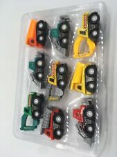 Lot Of 9 Small Trucks Construction Toys Heavy Machinery San Ren Hang