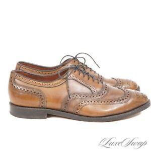 #1 MENSWEAR Allen Edmonds 6203 Olive Green Cigar McAllister Mottled Shoes 10 NR