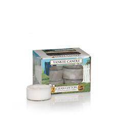 Yankee Candle Duftkerze Teelichter Box mit 12 Stück  Clean Cotton