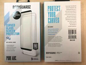 BodyGuardz Pure Arc Samsung Galaxy S8 , S9 Curved Tempered Glass