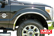 FTFD203 11-16 Ford F-250 F-350 Super Duty POLISHED Stainless Steel Fender Trim