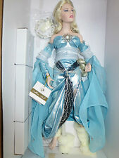nrfb Frankin Mint Lady of Lake Doll Excaliber Sword Camelot STAND+COA -last one