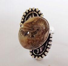 Ovale natürliche Ringe mit Edelsteinen im Cocktail-Stil