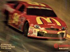Vintage 1998 NASCAR Bill Elliott Brembo Brake System Poster