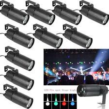 10PCS 10W Mini LED Spotlight DJ Stage Lighting Beam Disco Bar Spin Pinspot Light