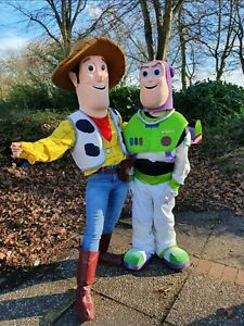 Adults Toy story Buzz or Woody Mascot Costume fancy HIRE Party Events LEICESTER