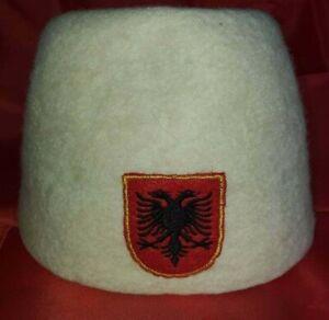 Handmade Traditional Albanian Eagle Hat / Fez / Plis / Qeleshe