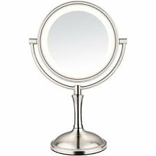 """Amnoamno LED Makeup Mirror-10x Magnifying 7.8"""" Double Sided Lighted Vanity 3 or"""