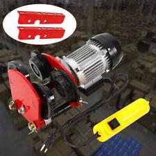 1t/2200lb Electric Push Beam Track Roller Trolley Overhead Garage Hoist