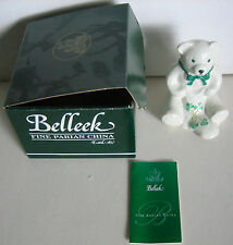 Belleek Fine Parian China Teddy Bear New In Box