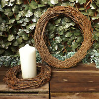 Natural Pine Twig Wicker Round Wreath Home Wedding Easter Christmas Decoration