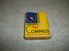 Vintage Taylor Leedawl Compass Made in America Black Bakelite #2620 original box