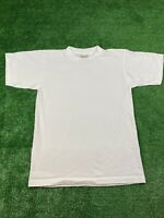 Vintage Men's Size Small Single Stitch Blank Alore White T Shirt 90's 80's Band
