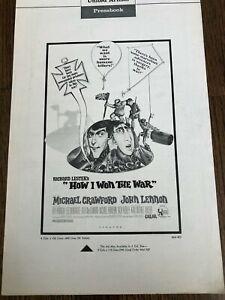 'HOW I WON THE WAR' - JOHN LENNON  PRESSBOOK 1967 Hard to find