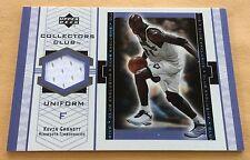 2002 Upper Deck Basketball Collector's Club Kevin Garnett Jersey Patch Card
