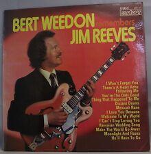 "BERT WEEDON Remembers Jim Reeves LP Album 12"" 33rpm Vinyl VG"