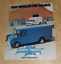 USA - Chevy Trucks Walk In Vans Brochure 1980