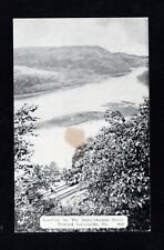 Postcard Laceyville Pa Susquehanna River Looking West  Wyoming County
