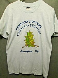 KENTUCKY TOBACCO FESTIVAL BLOOMFIELD VINTAGE SINGLE STITCH T-SHIRT ADULT LARGE