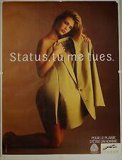 Affiche Vêtements Homme STATUS, TU ME TUES - 120x160 cm