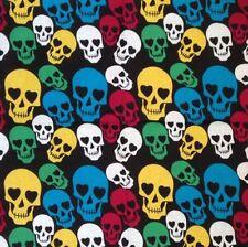 Bandana foulard tête de mort multicolor 54 x 54 cm 100 % coton skull !