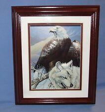 1998 SCAFA Tornabene Lithograph - 3D American Bald Eagle & White Wolf - Signed