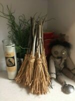 """New Wiccan Handcrafted 12"""" Witch's Altar Besoms - Wiccan Broom"""