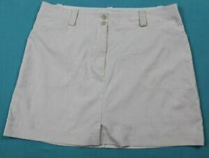NIKE Golf Fit Dry Womens Skort Size 16 Beige EUC #16130
