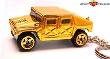RARE!! KEY CHAIN GOLD HUMMER HUMVEE H1 4X4 AM GENERAL CUSTOM LIMITED EDITION NEW