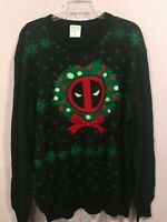 Marvel Deadpool Christmas  Men Ugly Sweater New Size Large XL 2XL New