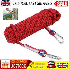 10m 12mm Mountaineering Rock Climbing Rope Safety  Auxiliary Cord Outdoor Use