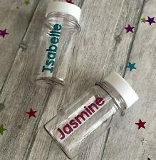 PERSONALISED KIDS WATER BOTTLE Small School Drinks Bottle Keepsake Reusable Gift