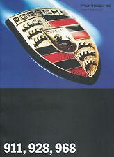 Prospekt Porsche 911 928 968 1993 auto folleto 8 93 automóviles auto Germany brochure