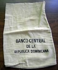 BANCO CENTRAL DE LA REPUBLICA DOMINICANA CLOTH COIN BAG APPROX 9 x 14""