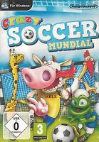 PC CD + Crazy Soccer Mundial + Fussball + Pass + Dribbling + Tor +  Win 7