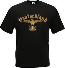 Deutschland T-Shirt Trikot Schwarz Weiß S M L XL XXL