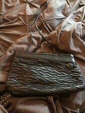 Vintage EVAN PICCONE black leather shoulder bag or clutch