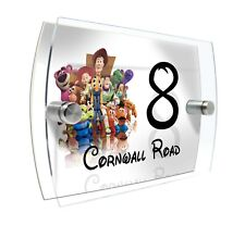 Toy Story Modern Door House Number Sign Plaque Printed Acrylic