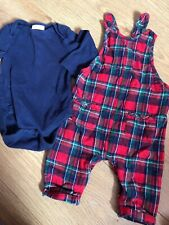 Next Baby 3-6months Dungaree Boys Girls Checked