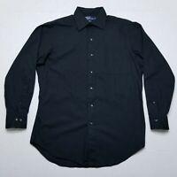 Polo Ralph Lauren Curham Black long sleeve button front dress shirt 15.5 32/33