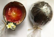 Real Coconut Shell Bowl Candle Handicraft Hawaiian Home Decor Jasmin Plumeria N