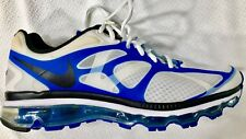 Nike AirMax 2012 White, Blue Black Running Shoes size 10.5
