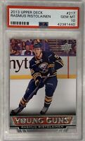 2013 2014 UPPER DECK Rasmus Ristolainen YOUNG GUNS ROOKIE CARD RC ROOKIE PSA 10