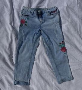 Justice Girls Embroidered Jeans Size 14