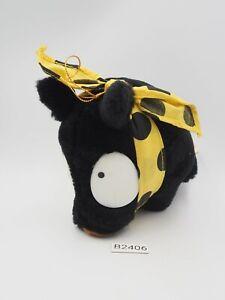 """Ranma 1/2 B2406 P Chan Black Pig Ryoga Hibiki Banpresto 1991 Plush 6"""" Doll Japan"""