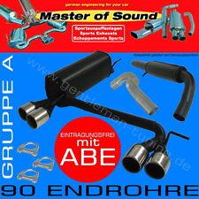 MASTER OF SOUND GR.A DUPLEX AUSPUFFANLAGE Opel Corsa C 1.0 1.2 1.3 1.4 1.7 1.8