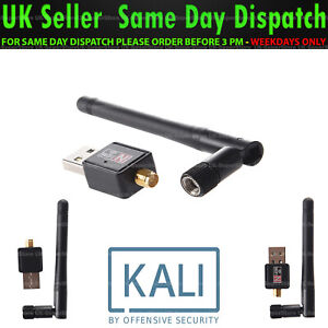 🔥USB WiFi Adapter Kali Linux/Aircrack Compatible Hack WiFi Network 2dBi Antenna