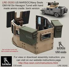 Live Resin 1/35 US MARSOC/Navy Seals GMV-M Six Hexagon Turret w/Ammo Cradle Back