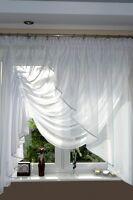 AG8 TOP Fertiggardine aus Voile NEU Top Design SET Schöne Gardine Modern Weiß